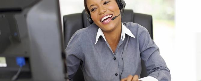Call Center Operator Personalizing Her Customer Service